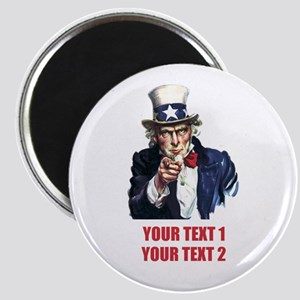 [Your text] Uncle Sam 2 Magnet